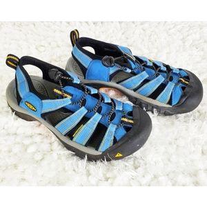 Keen waterproof sport hiking sandals blue size 7.5
